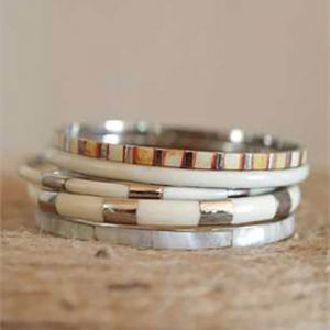 creative-coop-bracelets-silver-white-horn