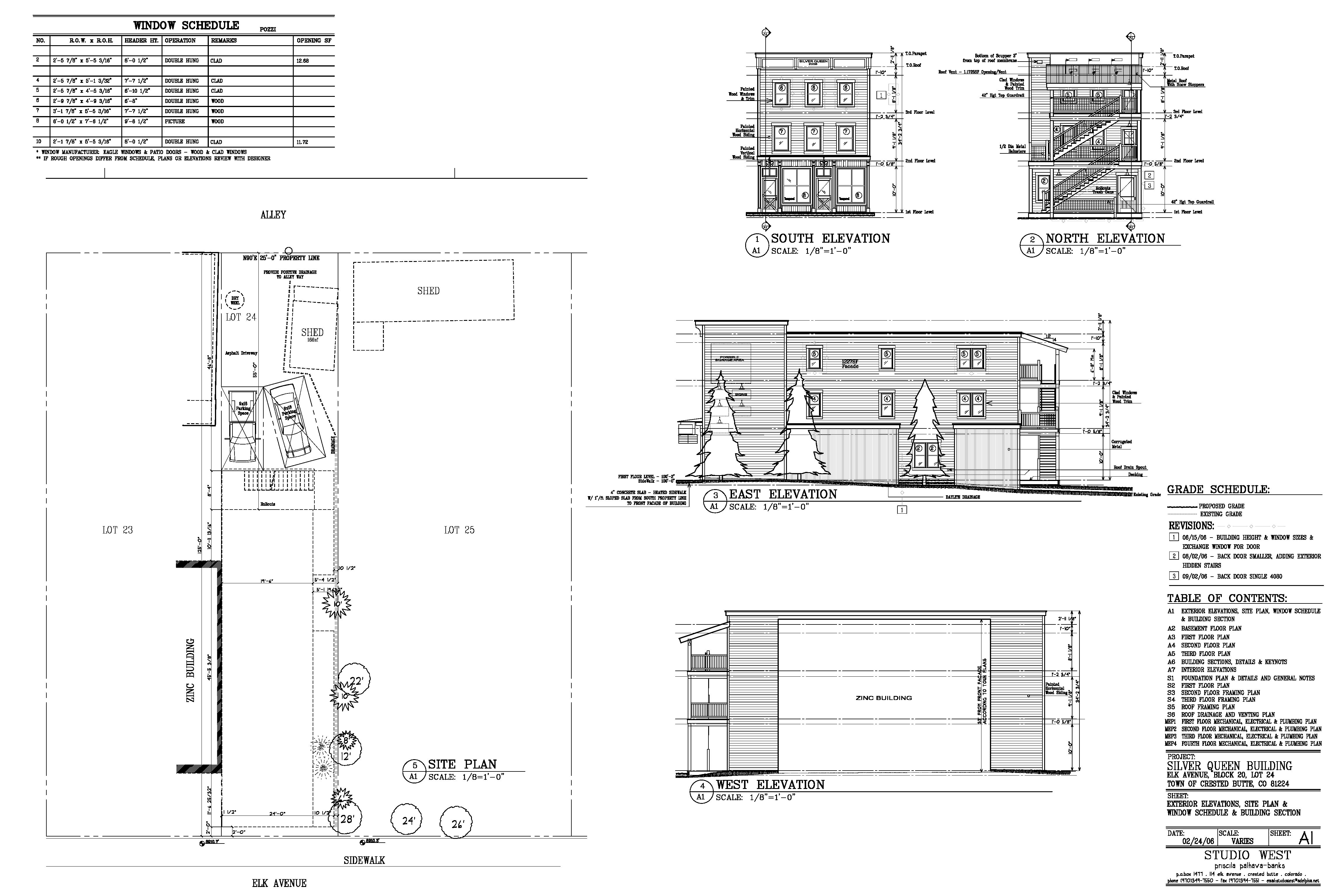 construction drawings, Studio West