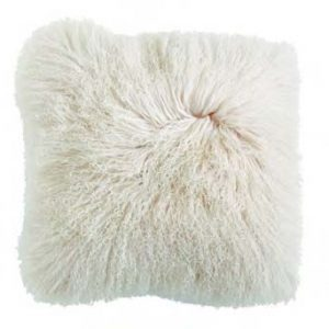 Mongolian Lamb Fur Cream Pillow